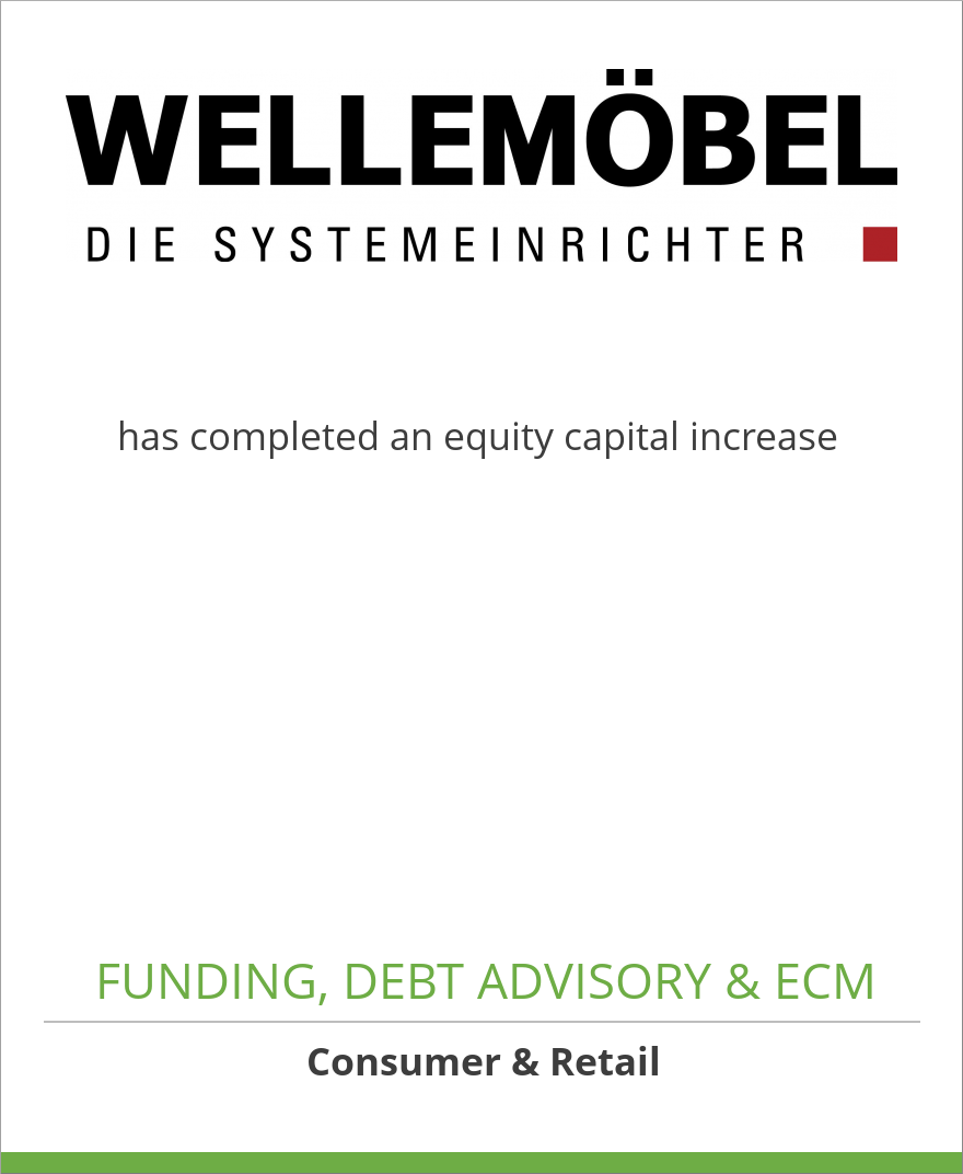 Wellemöbel GmbH has completed an equity capital increase | Oaklins