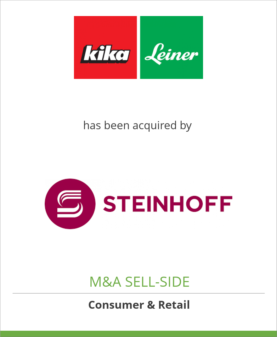Tombstone Image For Kika Leiner Group Has Been Acquired By Steinhoff Europe Ag
