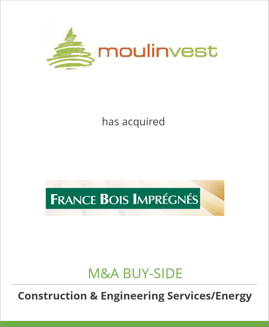 moulinvest has acquired france bois impr gn s oaklins. Black Bedroom Furniture Sets. Home Design Ideas
