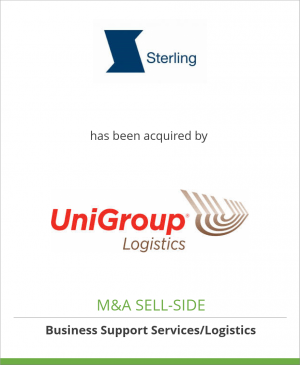 Tombstone image for Sterling Relocation Limited has been acquired by UniGroup Inc.