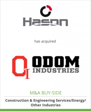 Tombstone image for Hason Steel Inc. has acquired Odom Industries