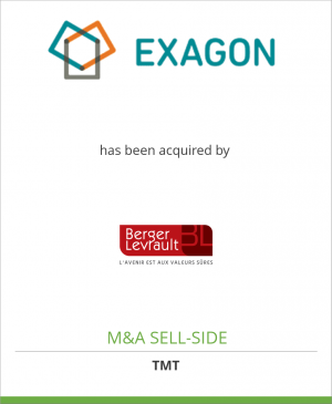 Tombstone image for Exagon Inc. has been acquired by Berger-Levrault Intl. Ltd