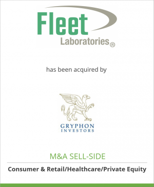 Tombstone image for C.B. Fleet Company, Inc. has been acquired by Gryphon Investors
