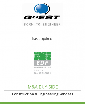 Tombstone image for QuEST Global Services Pte. Ltd. has acquired EDF GmbH