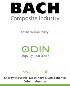 Tombstone image for Bach Composite Industry A/S has been acquired by Odin Equity Partners