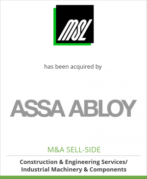 Tombstone image for MSL Schloss- und Beschlägefabrik has been acquired by ASSA ABLOY Group