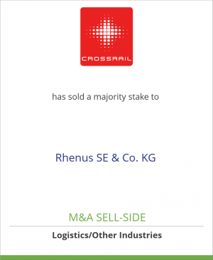 Tombstone image for Crossrail AG has sold a majority stake to Rhenus SE & Co. KG