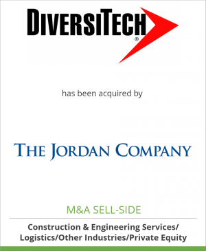 Tombstone image for DiversiTech Corporation has been acquired by The Jordan Company, L.P.