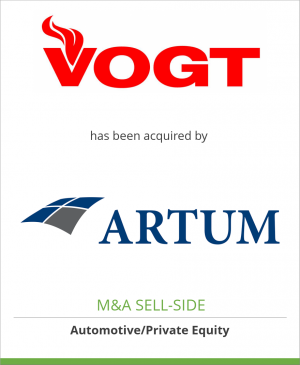 Tombstone image for VOGT AG has been acquired by Artum AG