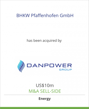 Tombstone image for BHKW Pfaffenhofen GmbH has been acquired by Danpower GmbH