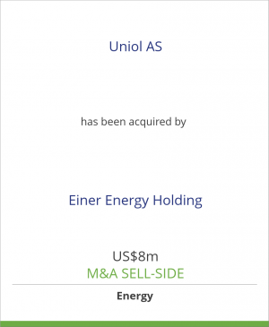 Tombstone image for Uniol AS has been acquired by Einer Energy Holding