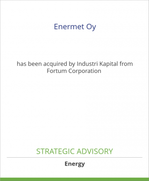 Tombstone image for Enermet Oy has been acquired by Industri Kapital from Fortum Corporation