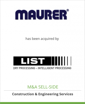 Tombstone image for Ing. A. Maurer S.A. has been acquired by LIST AG