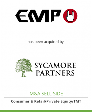 Tombstone image for EMP Merchandising GmbH has been acquired by Sycamore Partners