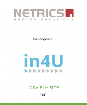 Tombstone image for Netrics Hosting AG has acquired in4U AG