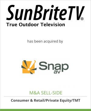 Tombstone image for SunBrite Holding Corporation has been acquired by SnapAV