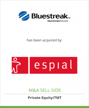 Tombstone image for Bluestreak Technologies SAS has been acquired by Espial Group Inc.