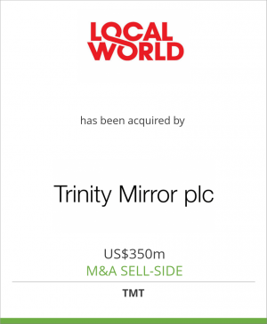 Tombstone image for Local World Holdings Limited has been acquired by Trinity Mirror Group plc