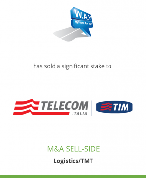 Tombstone image for W.A.Y. –Where Are You?– Srl has sold a significant stake to Telecom Italia Digital Solutions