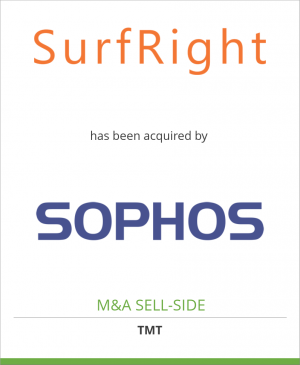 Tombstone image for SurfRight has been acquired by Sophos Group PLC