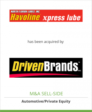 Tombstone image for North Florida Lubes, Inc. has been acquired by Driven Brands