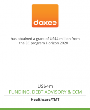 Tombstone image for Doxee Spa has obtained a grant of US$4 million from the EC program Horizon 2020