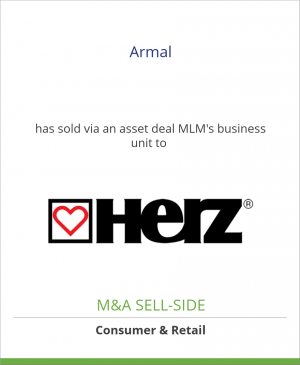 Tombstone image for Armal has sold via an asset deal MLM's business unit to HERZ-Armaturen Ges.m.b.H.