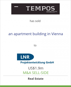 Tombstone image for Tempos Immobilien GmbH has sold an apartment building in Vienna to LNR Projektentwicklung GmbH