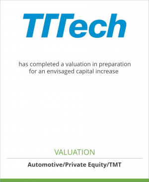 Tombstone image for TTTech Computertechnik AG has completed a valuation in preparation for an envisaged capital increase