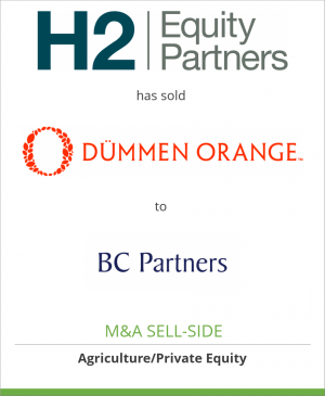 Tombstone image for H2 Equity and the Dümmen family has sold Dümmen Orange  to BC Partners