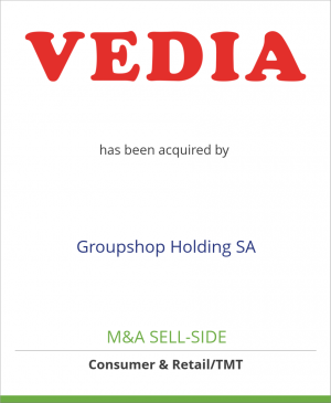 Tombstone image for Vedia SA has been acquired by Groupshop Holding SA