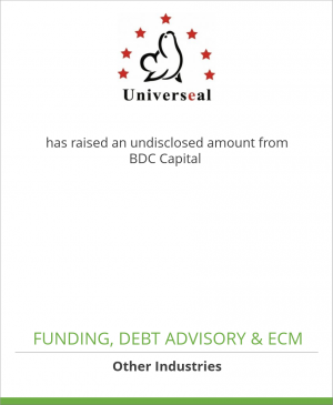 Tombstone image for Universeal Inc. has raised an undisclosed amount from BDC Capital