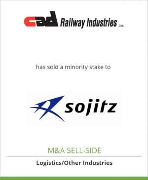 Tombstone image for CAD Railway Industries Ltd. has sold a minority stake to Sojitz
