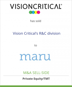 Tombstone image for Vision Critical Communications has sold  Vision Critical's R&C division to MARU Group