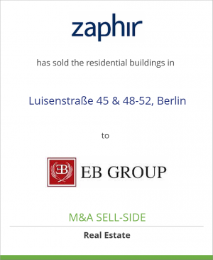 Tombstone image for Zaphir Asset Management has sold the residential buildings in Luisenstraße 45 & 48-52, Berlin to EB Group