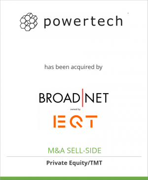 Tombstone image for PowerTech Information Systems AS has been acquired by Broadnet AS