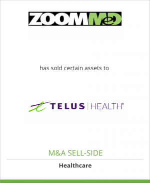 Tombstone image for ZoomMed Inc. has sold certain assets to TELUS Health