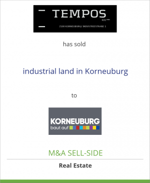 Tombstone image for Tempos K01 GmbH has sold industrial land in Korneuburg to The Municipality of Korneuburg