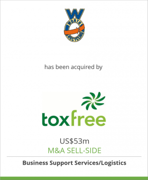 Tombstone image for Worth Corporation  has been acquired by Tox Free Solutions Ltd