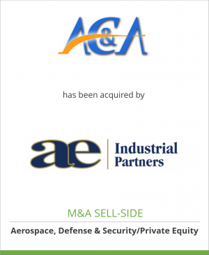 Tombstone image for AC&A, LLC has been acquired by AE Industrial Partners, LLC