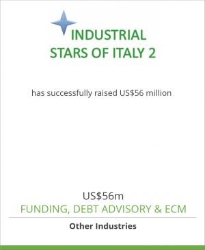 Tombstone image for Industrial Stars of Italy 2 has successfully raised US$56 million