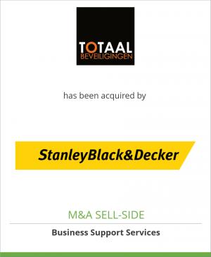 Tombstone image for Totaal Beveiligingen has been acquired by Stanley Black & Decker