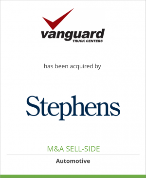 Tombstone image for Vanguard Truck Centers has been acquired by Stephens Capital Partners