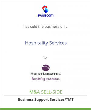 Tombstone image for Swisscom AG has sold the business unit Hospitality Services to HoistLocatel AB