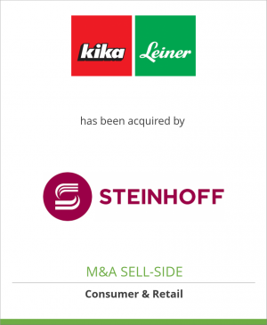 Tombstone image for Kika/Leiner Group has been acquired by Steinhoff Europe AG