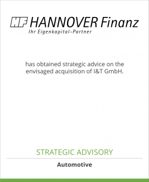 Tombstone image for Hannover Finanz Austria GmbH has obtained strategic advice on the envisaged acquisition of I&T GmbH.