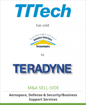 Tombstone image for TTTech Computertechnik AG  has sold Avionics Interface Technologies to Teradyne, Inc.