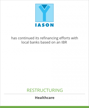 Tombstone image for Iason GmbH has continued its refinancing efforts with local banks based on an IBR