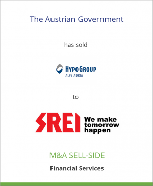 Tombstone image for The Austrian Government has sold Hypo Group Alpe Adria AG  to Anadi Financials/Srei Group
