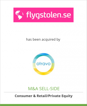 Tombstone image for Flygstolen Nordic AB has been acquired by Otravo Topholding B.V.